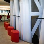 Study space on 4th floor of Sendai Mediatheque (せんだいメディアテーク)