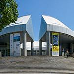 The facade of Hiroshima City Museum of Contemporary Art (広島市現代美術館)