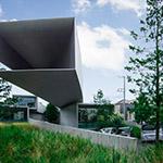 The facade of Hoki Museum (ホキ美術館)