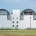 The Facade of Kita-Kyushu City Central Library (北九州市立中央図書館)