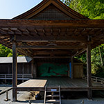 The facade of Noh Stage in the Forest (伝統芸能伝承館)