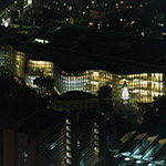 The National Art Center, Tokyo from aerial view (国立新美術館)