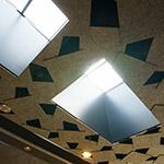 Two halls on celing of Historic sites Kanayama Castle guidance facilities and Ota City Kanayama Regional Exchange Center (史跡金山城跡ガイダンス施設・太田市金山地域交流センター)