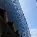 Upward view of Wakayama Prefecture Government Office, south annex (和歌山県庁南別館)