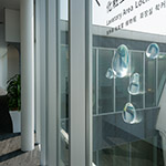 Water drops in TOTO Museum (TOTOミュージアム)