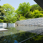 Water garden of D.T.Suzuki Museum (鈴木大拙館)