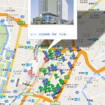 【地図】東京駅東側、八重洲再開発マップ