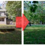 建築写真に夏の雰囲気を【樹木の色の編集】