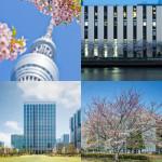 【地図】桜と一緒に撮りたい都内のビル20(その2)
