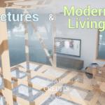 【DL】住宅の構造が透けて見えるシミュレーション【UE4ArchViz】