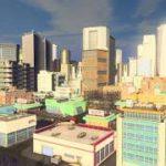 【実験】Cities: Skylines MOD Asset test: 和柄(波)のビルWave Pattern Building